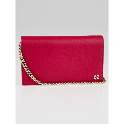 Gucci Blossom Leather Betty Wallet on Chain Clutch Bag