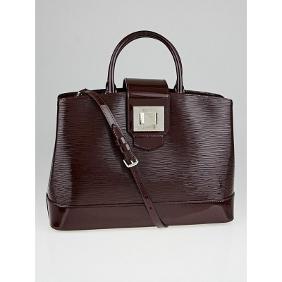 Louis Vuitton Prune Electric Epi Leather Mirabeau GM Bag