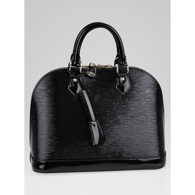 Louis Vuitton Black Electric Alma PM Bag