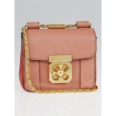 Chloe Pink Bi-Color Leather Mini Elsie Chain Bag