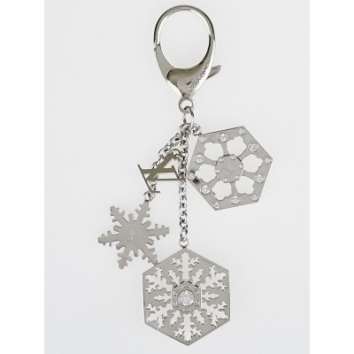 Louis Vuitton Silver Flocon Snowflake Key Holder/Bag Charm
