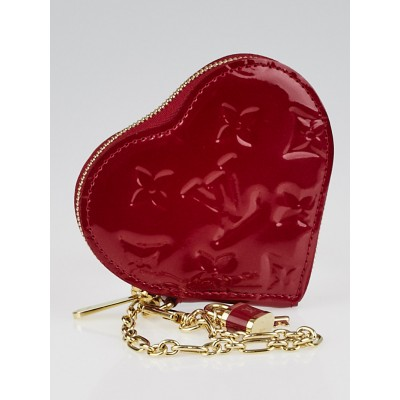 Louis Vuitton Pomme D'Amour Monogram Vernis Heart Coin-Purse