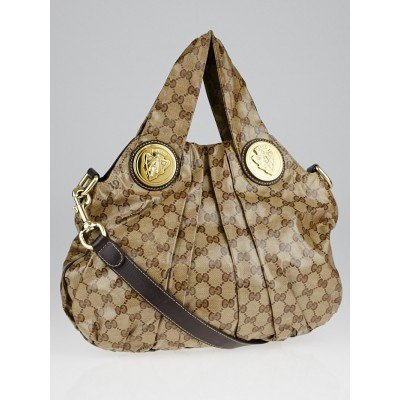 Gucci Beige/Ebony GG Crystal Hysteria Small Shoulder Bag