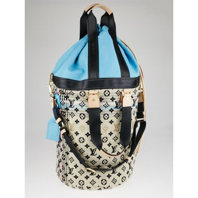 Louis Vuitton Limited Edition Blue Monogram Cheche Gypsy GM Bag