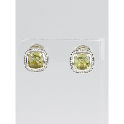 David Yurman 11mm Lemon Citrine and Diamond Albion Earrings