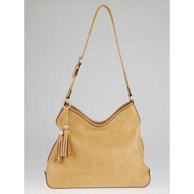 Gucci Tan Leather Marrakech Medium Hobo Bag
