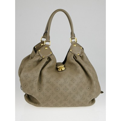 Louis Vuitton Taupe Monogram Mahina Leather L Bag