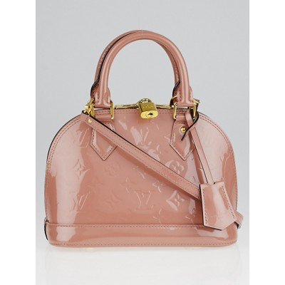 Louis Vuitton Rose Velours Monogram Vernis Alma BB Bag