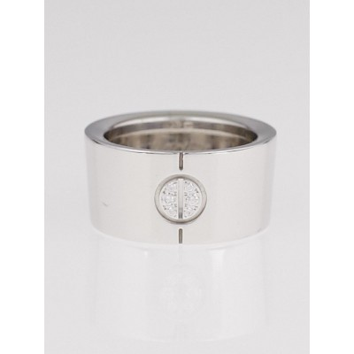 Cartier 18k White Gold and Diamond LOVE Ring Size 49/4.75