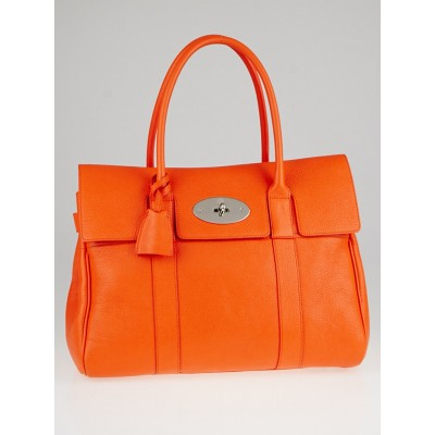 Mulberry Mandarin Grained Leather Bayswater Bag