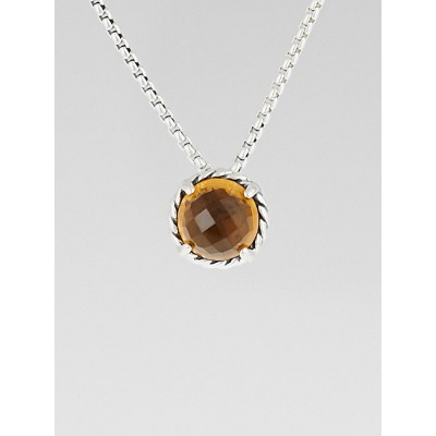 David Yurman Citrine and Sterling Silver Chatelaine Pendant Necklace