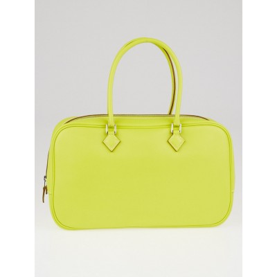 Hermes 28cm Lime Swift Leather Plume Elan Bag
