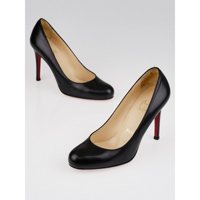 Christian Louboutin Black Leather Simple 100 Pumps Size 5/35.5