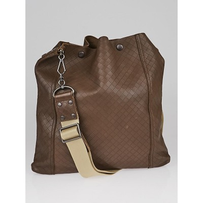 Bottega Veneta Brown Quilted Leather Crossbody Bag
