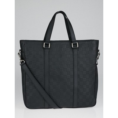 Louis Vuitton Black Damier Infini Leather Tadao PM Tote Bag