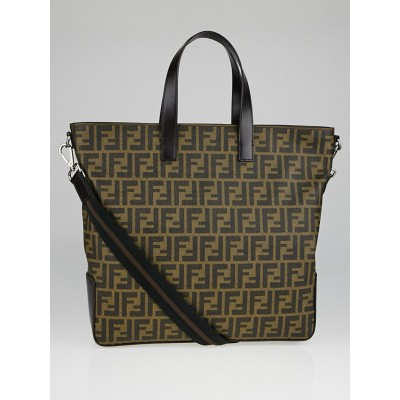 Fendi Tobacco Zucca Print Coated Canvas Tote Bag 7VA347