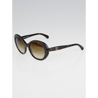 Chanel Tortoise Shell Oversized Frame Gradient Tint Sunglasses - 5238