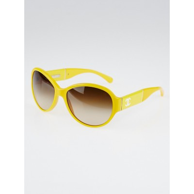 Chanel Yellow Frame CC Logo Sunglasses - 5229Q