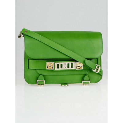 Proenza Schouler Green Calfskin Leather PS11 Classic Bag