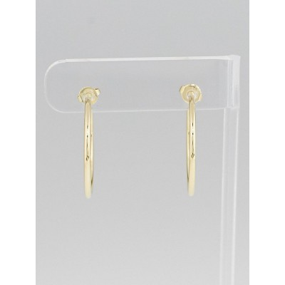 Tiffany & Co. 18k Gold Large Hoop Earrings