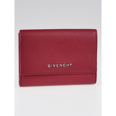 Givenchy Magenta Goatskin Leather Pandora Compact Wallet