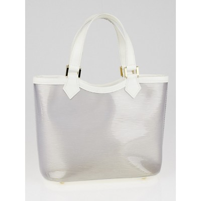 Louis Vuitton White Vinyl Epi Plage Leather Mini Lagoon Bay Bag