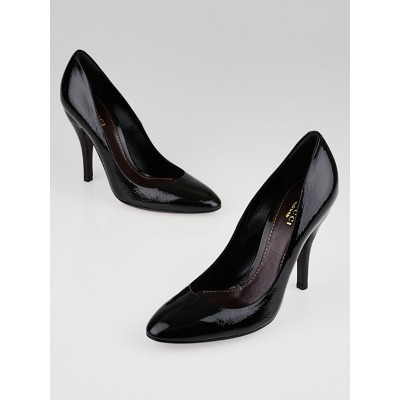 Gucci Black Patent Leather Pumps Size 7/37.5