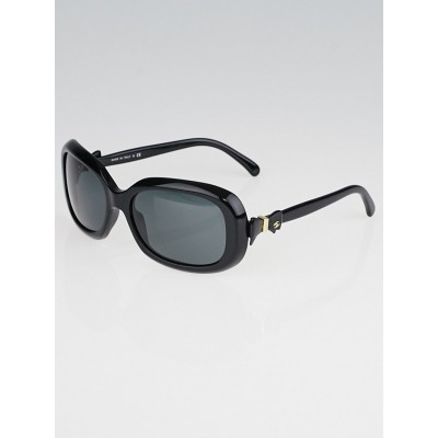 Chanel Black Frame Bow Sunglasses-5170