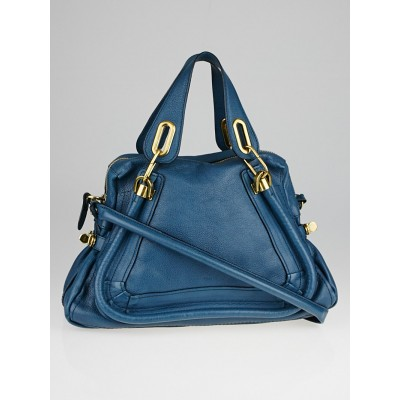 Chloe Mistral Pebbled Leather Medium Paraty Bag
