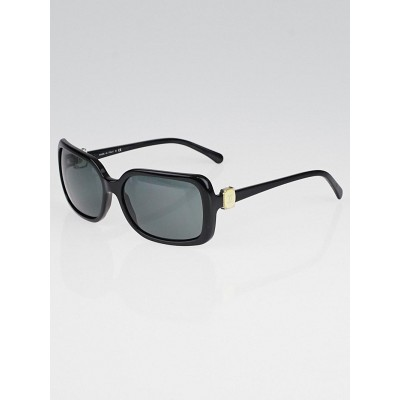 Chanel Black Frame Rectangle CC Sunglasses-5175