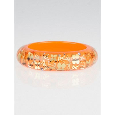 Louis Vuitton Sunset Orange Monogram Inclusion GM Bracelet