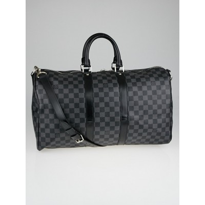 Louis Vuitton Damier Graphite Canvas Keepall 45 Bandouliere Bag