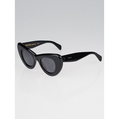 Celine Black Acetate Papillon Sunglasses 41055/S