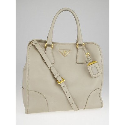 Prada Pomice Saffiano Lux Leather Tote Bag B2253S
