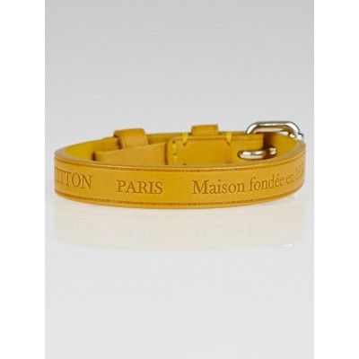 Louis Vuitton Solar Leather Stamp It Bracelet