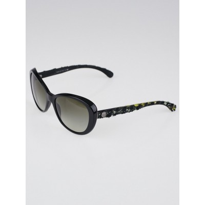 Chanel Black Frame and Tweed Sunglasses-5241