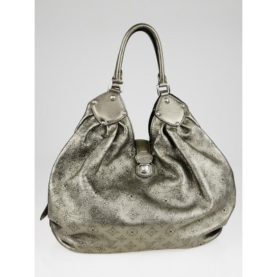 Louis Vuitton Argent Monogram Mahina Leather XL Bag