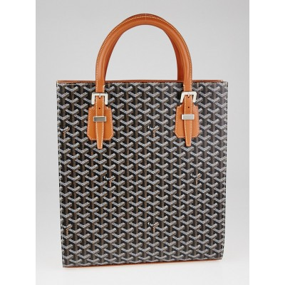 Goyard Black Chevron Print Coated Canvas Comores Bag