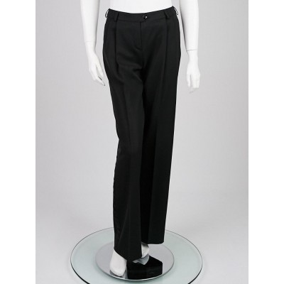 Christian Dior Black Wool Blend Trouser Pants Size 4/36