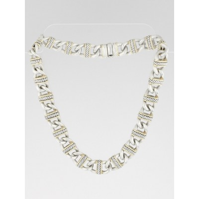 David Yurman Sterling Silver and 18k Gold Madison Chain Necklace
