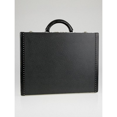 Louis Vuitton Black Taiga Leather President Classeur Briefcase Bag