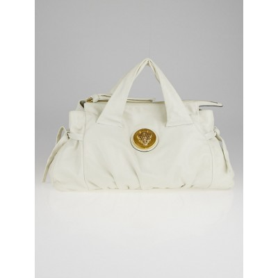 Gucci Ivory Leather Hysteria Top Handle Satchel Bag