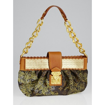 Louis Vuitton Limited Edition Gold Monogram Dentelle Kirsten Bag