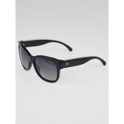 Chanel Black and Silvertone Oversized Gradient Tint Prestige Piano Sunglasses