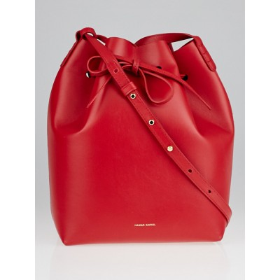 Mansur Gavriel Flamma/Flamma Leather Bucket Bag