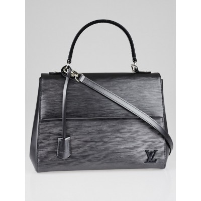 Louis Vuitton Anthracite Nacre Epi Leather Cluny MM Bag