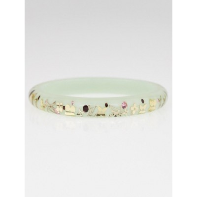 Louis Vuitton Green Monogram Resin Inclusion PM Bracelet