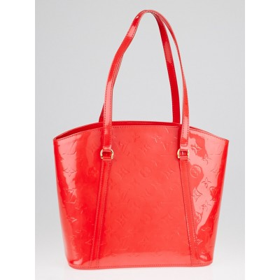 Louis Vuitton Rouge Grenadine Monogram Vernis Avalon MM Bag