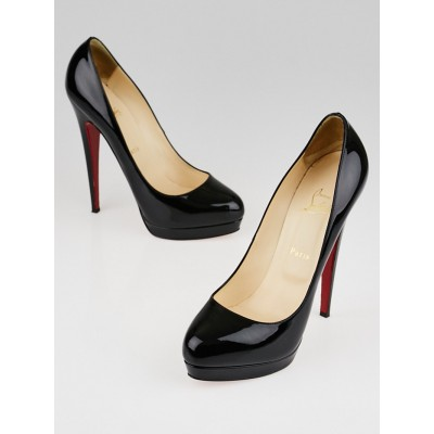 Christian Louboutin Black Patent Leather Alti 160 Pumps Size 9.5/40