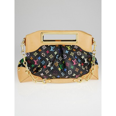 Louis Vuitton Black Monogram Multicolore Judy GM Bag